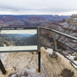 Stock Photo: Sightseeing platform at Grand Canyon, USA