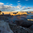Taking Picture of Lake Powell from Alstrom Point, Glen Canyon National Recreation Area, USA — Stock Photo #19886921