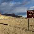 Road sign about Alstrom Point in Arizona, USA — Stock Photo