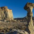 Stock Photo: White Ghosts, Hoodoos, Utah, USA