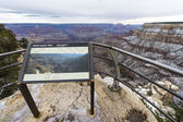 Sightseeing platform at the Grand Canyon, USA — Stock Photo