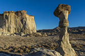White Ghosts, Hoodoos, Utah, USA — Stock Photo