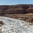 Stock Photo: Frozen river in Utah, USA