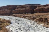 Frozen river in Utah, USA — Stock Photo