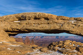 The Landscape Arch in Arches National Park, Utah. — Stock Photo