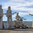 The Beatles. Sculpture by famous David Adickes. Houston, USA — Stock Photo