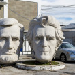 Statues of the USA presidents by sculptor David Adickes, Houston, USA — Stock Photo #19922397