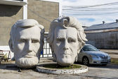 Statues of the USA presidents by sculptor David Adickes, Houston, USA — Stock Photo