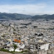 Panoramic view of Quito in Ecuador - Stock Photo