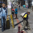 Stock Photo: On streets of Quito city, Ecuador