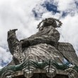 Monument of La Virgen De Panecillo located in Quito hills, Ecuador — Stock Photo