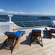 On a deck of cruise ship — Foto Stock