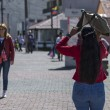 Stock Photo: Sun Heat and ladies in Ecuador