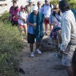 Stock Photo: Group of tourists on Galapagos Islands