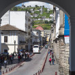 Stock Photo: RondStreet in Historic District of Quito, Ecuador