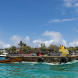 Cargo barge on Galapagos islands — 图库照片