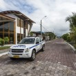 Stock Photo: Police car on Galapagos islands