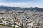 Panoramiczny widok z quito w ekwadorze — Zdjęcie stockowe