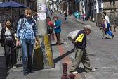 şehrin quito, ekvator sokaklarda — Stok fotoğraf