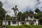 Monument of La Virgen De Panecillo located in Quito hills, Ecuador — Stock Photo