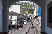 Ronda Street in the Historic District of Quito, Ecuador — Stock Photo