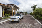 Police car on Galapagos islands — Stock Photo