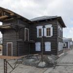 Old wooden houses of Irkutsk, Russia — Stock Photo