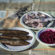 Traditional Baikal lunch — Lizenzfreies Foto