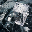 Stock Photo: White block of ice on Baikal lake,Russia