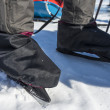 Skates - traditional personal transportation an frozen Baikal - Stock Photo