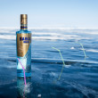 Baikal vodka ready for ancient ritual drinking called burkhan — Stock Photo