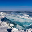 Blue block of ice on Baikal lake,Russia — Stock Photo