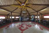 Restaurant with yurt styled interiors — Stock Photo