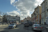 Central street of Irkutsk city, Russia — Stock Photo