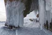 Iced arch on Baikla lake, Russia — Stock Photo