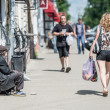 Scene from street life of Kostroma town, Russia — Stock Photo