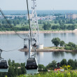 Cableway across Volga river in Nizhny Novgorod, Russia — Stock Photo