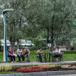 Stock Photo: Vologda modern street light, Russia