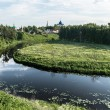 Panoramic view of old russian town Suzdal — Stock Photo