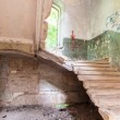 Inside the ruined Hrapovetskiy castle, Russia — Stock Photo
