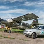 Plane at the private airport near Suzdal, Russia — Stock Photo