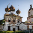 Stock Photo: Dilapidated orthodox church in Nizhny Novgorod region, Russia