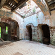 Inside the ruined Hrapovetskiy castle, Russia — Stockfoto