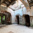 Inside the ruined Hrapovetskiy castle, Russia — Foto Stock