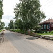 Rural road in Russia — Stock Photo