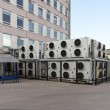 Huge cooling system of computer laboratory, Nizhniy Novgorod, Russia — Stock Photo