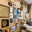 Antique metal plates collection — 图库照片