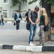 Scene from urban life of Nizhny Novgorod city, Russia — Stock Photo