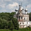 Orthodoxy temple in city of Vologda — Stock Photo