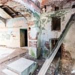 Inside the ruined Hrapovetskiy castle, Russia — Stock Photo #26945311